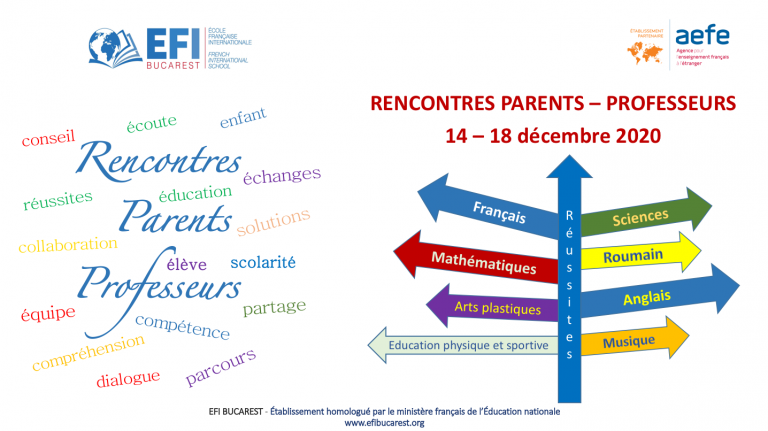 EFI Bucarest reunions parents professeurs 2020